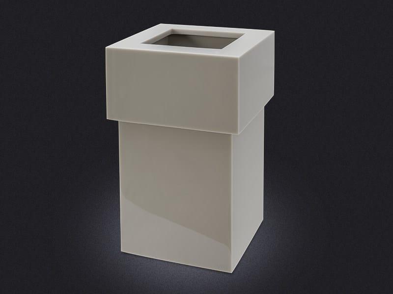 Resin bathroom waste bin METRO LARGE | Bathroom waste bin by Vallvé