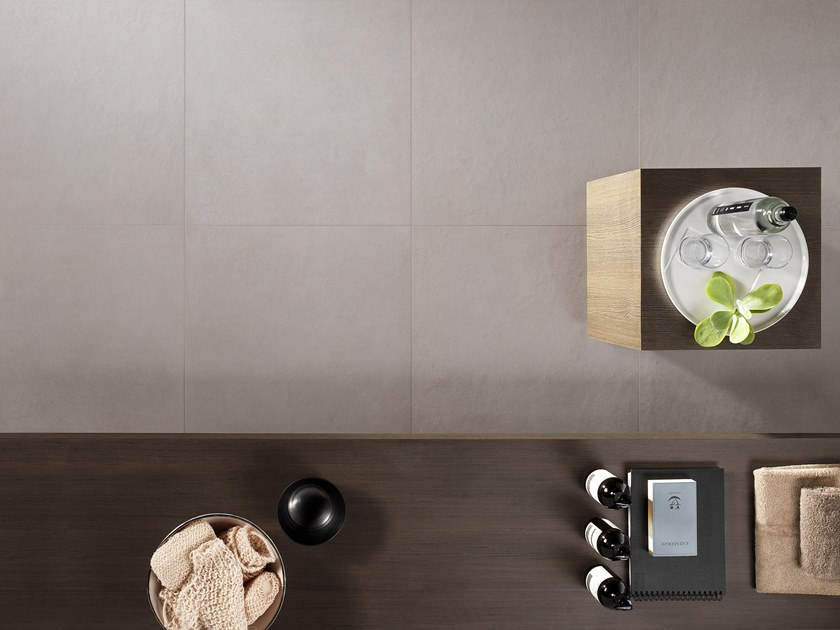 Antibacterial wall/floor tiles with concrete effect METROPOLIS LONDON GRAY by LEA CERAMICHE