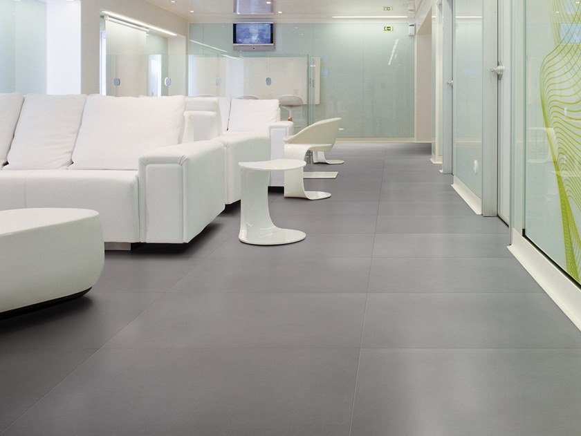 Antibacterial wall/floor tiles with concrete effect METROPOLIS NEW YORK COAL by LEA CERAMICHE