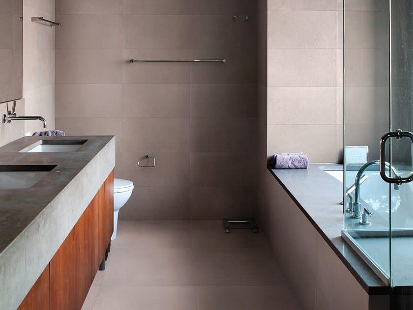Antibacterial wall/floor tiles with concrete effect METROPOLIS RIO COFFEE by LEA CERAMICHE