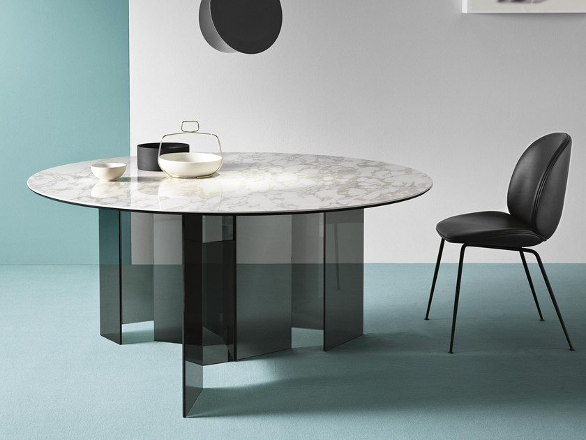 Round dining table METROPOLIS | Round table by Tonelli Design
