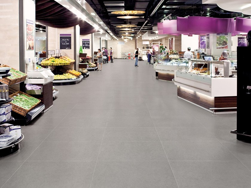 Antibacterial wall/floor tiles with concrete effect METROPOLIS SHANGHAI IRON by LEA CERAMICHE