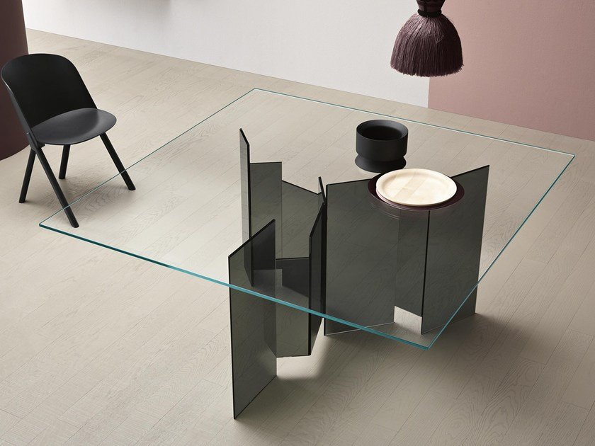 Square dining table METROPOLIS | Square table by Tonelli Design