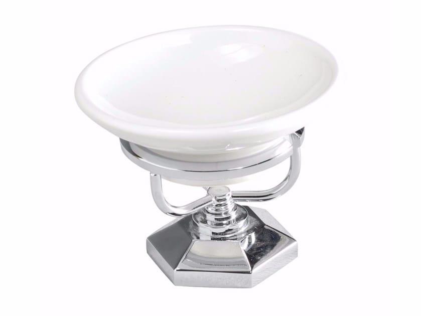 Countertop ceramic soap dish METROPOLITAN | Countertop soap dish by GENTRY HOME