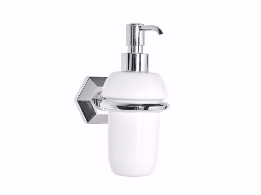 Wall-mounted ceramic liquid soap dispenser METROPOLITAN | Wall-mounted liquid soap dispenser by GENTRY HOME