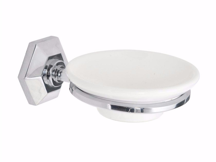 Wall-mounted ceramic soap dish METROPOLITAN | Wall-mounted soap dish by GENTRY HOME