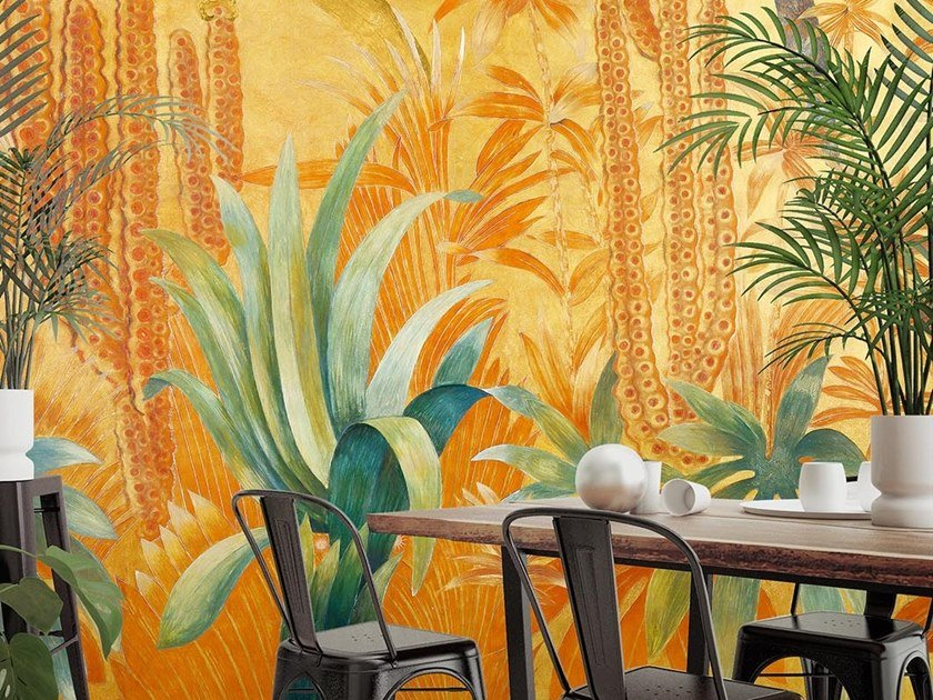 Tropical wallpaper, PVC free, eco, washable MEXICO by Wallpepper
