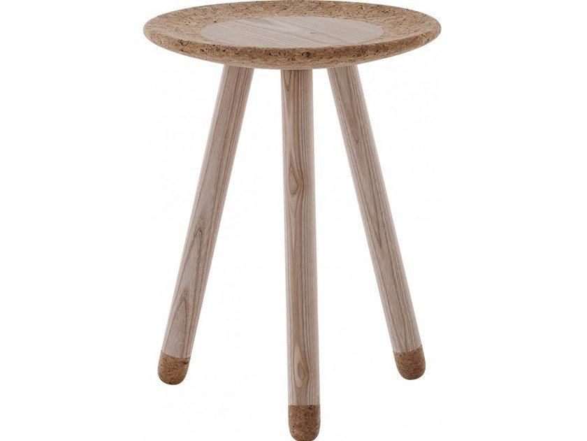 Round wooden coffee table MEZZA by Flam & Luce