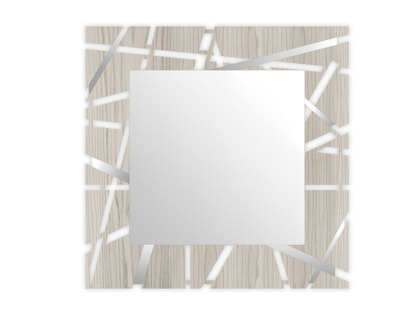 Square wall-mounted framed mirror MG-095Q-SP | Mirror by LAS