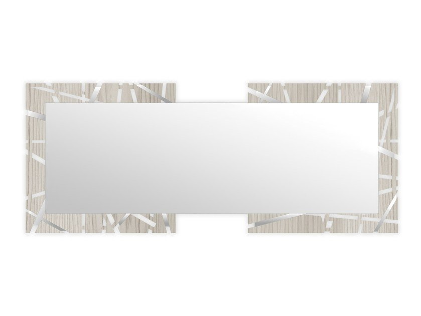 Rectangular wall-mounted framed mirror MG-095SP | Mirror by LAS