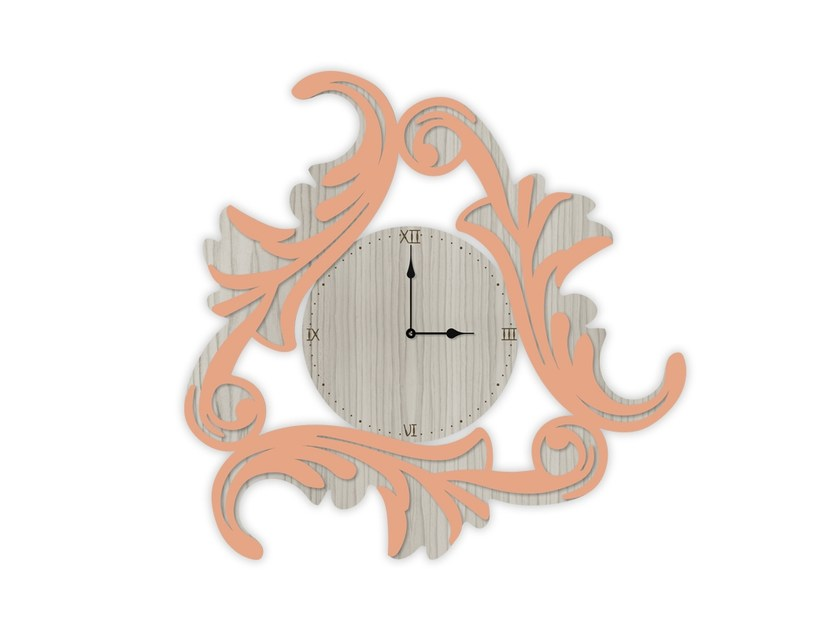 Wall-mounted MDF clock MG-245OR | Clock by LAS