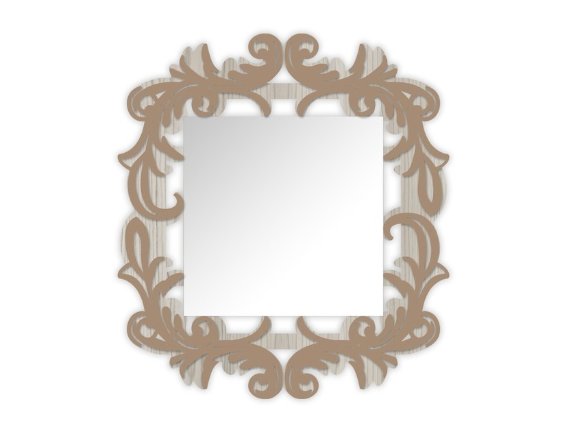 Square wall-mounted framed mirror MG-247SP | Mirror by LAS