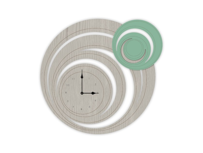 Wall-mounted MDF clock MG-297 | Clock by LAS