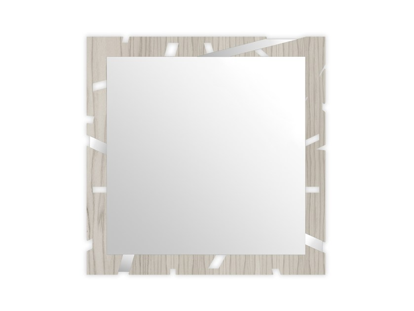 Square wall-mounted framed mirror MG-318 | Mirror by LAS