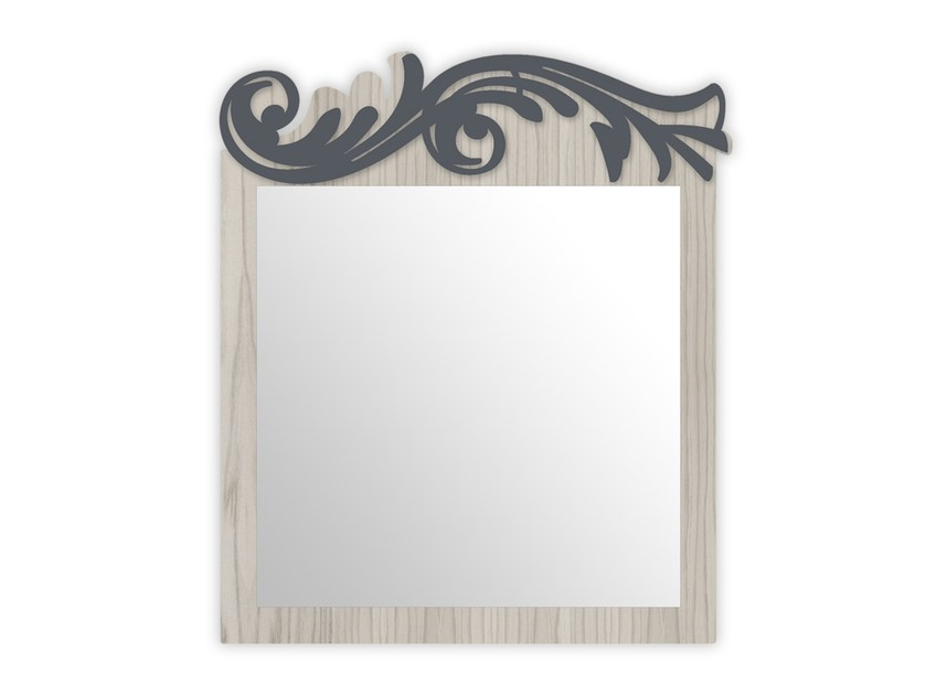 Square wall-mounted framed mirror MG-319 | Mirror by LAS
