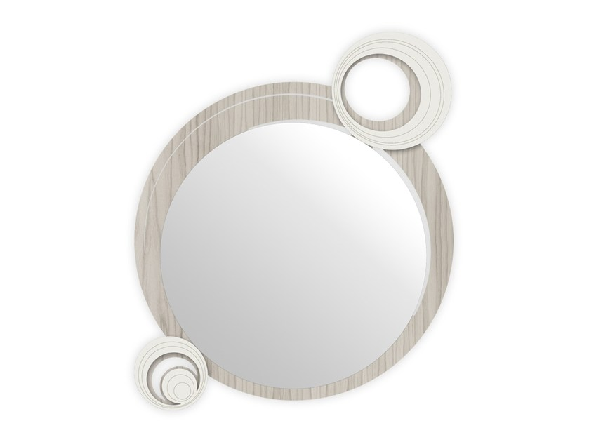 Round wall-mounted framed mirror MG-320 | Mirror by LAS