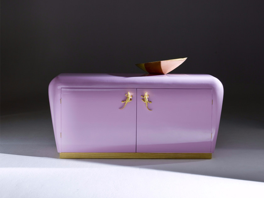 Lacquered sideboard with doors MIU by Rozzoni
