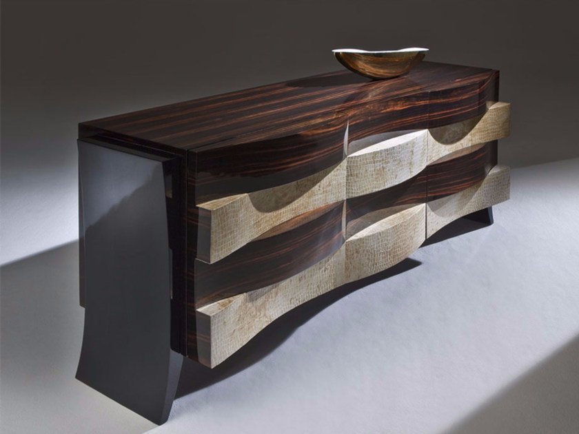Wooden sideboard with drawers BRERA by Rozzoni