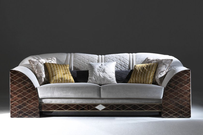 Upholstered fabric sofa BICOCCA by Rozzoni