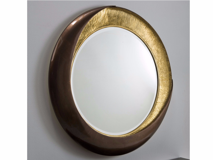 Round wall-mounted framed mirror ROMEO by Rozzoni