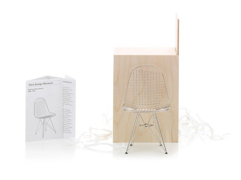 "Miniatura in metallo MINIATURES DKR ""WIRE CHAIR"" by Vitra"