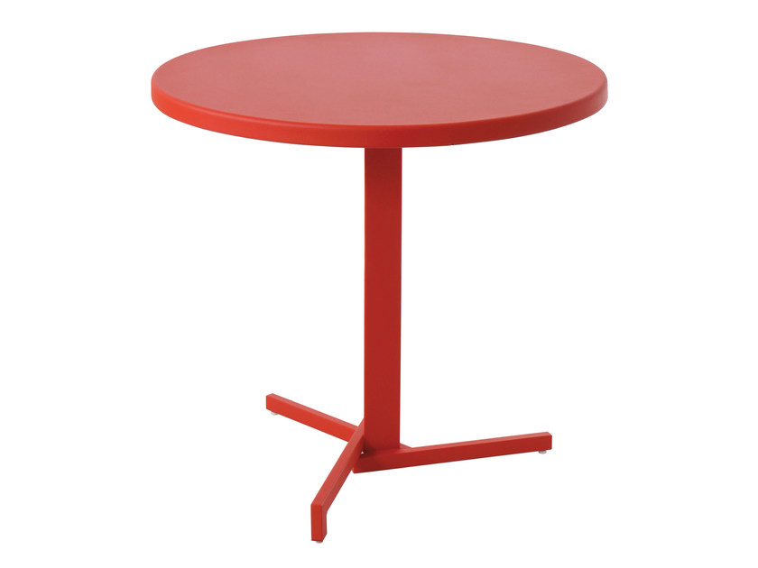 Folding round plate table MIA by emu