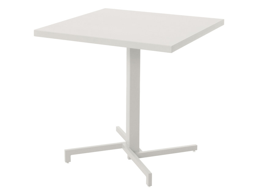 Folding square HPL table MIA by emu