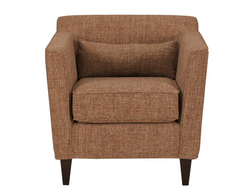 Upholstered fabric armchair with removable cover with armrests MIAMI by Désio