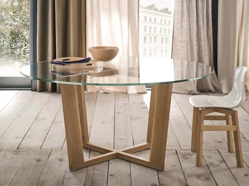 Round glass living room table MIAMI | Glass table by AltaCorte