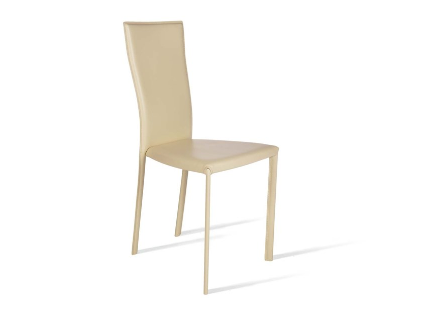 Upholstered high-back chair MIANE by Trevisan Asolo