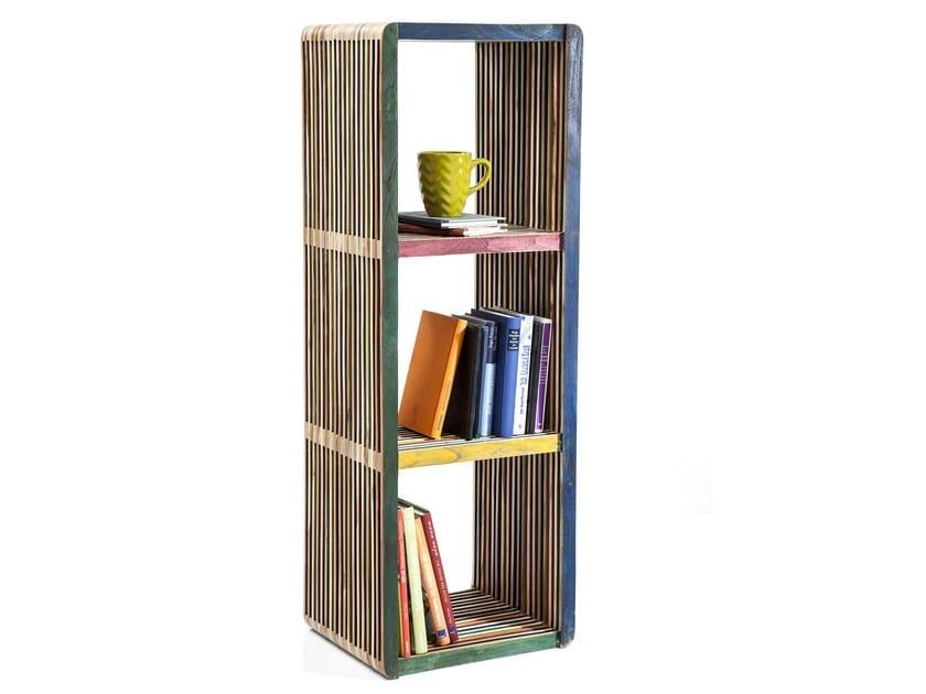 Open teak bookcase MICADO by KARE-DESIGN