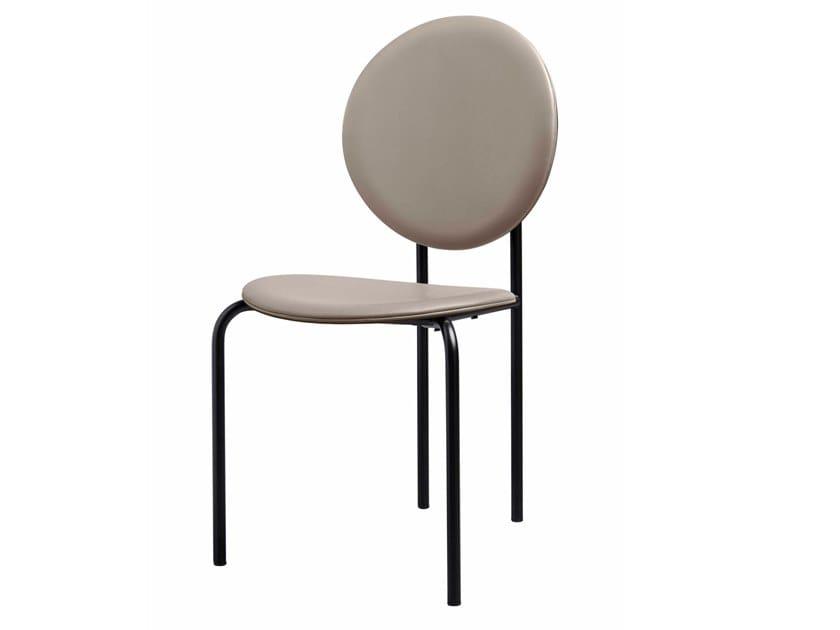Cadeira medalhão estofada de pele MICHELLE   Cadeira de pele by SP01
