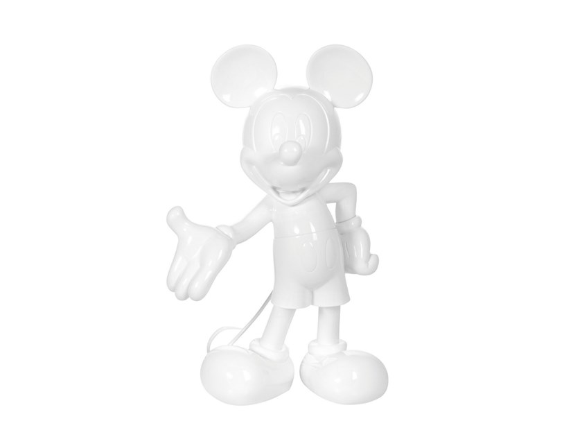 Contemporary style synthetic material sculpture MICKEY LIFE SIZE LAQUÉE by LEBLON DELIENNE