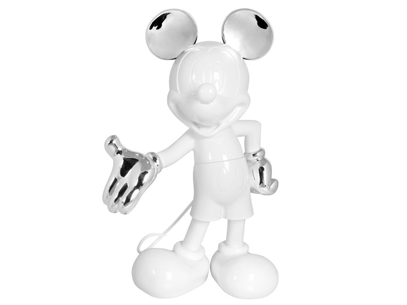 Contemporary style synthetic material sculpture MICKEY LIFE SIZE MELANGE by LEBLON DELIENNE