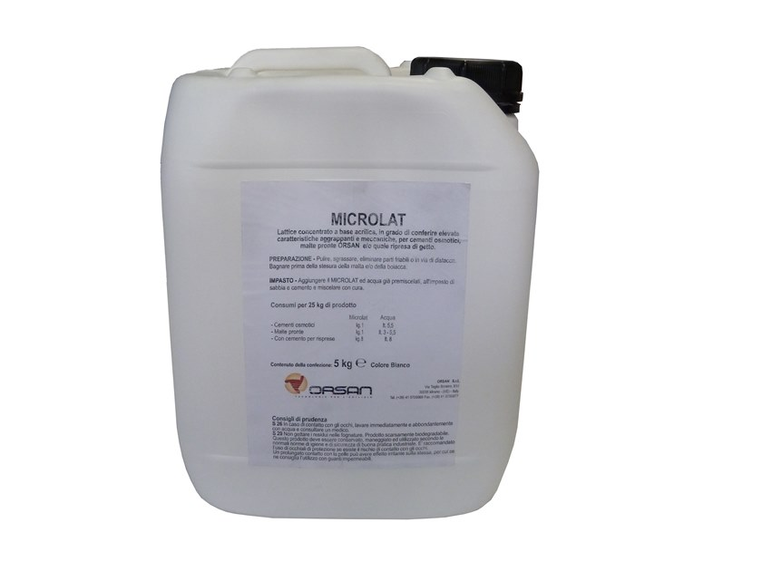 Condensed acrilic latex for mortars MICROLAT by Orsan International