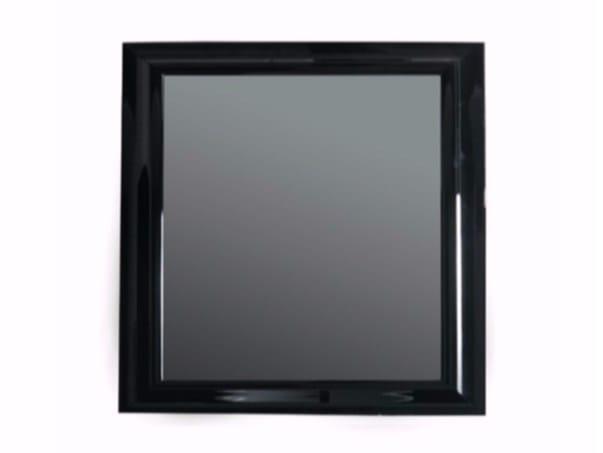 Wall-mounted framed bathroom mirror MIDAS 120 x 110 by GALASSIA