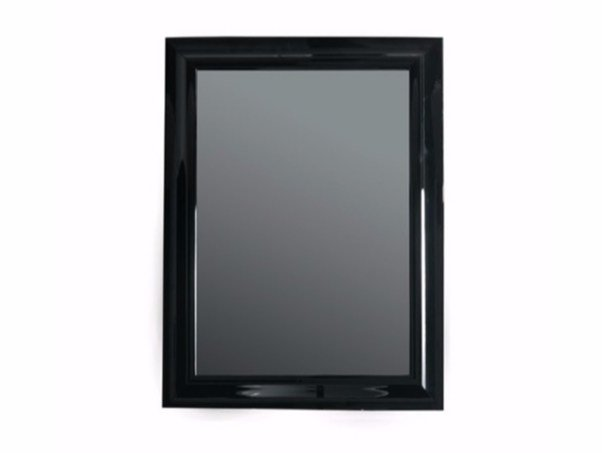 Wall-mounted framed bathroom mirror MIDAS 90 x 110 by GALASSIA