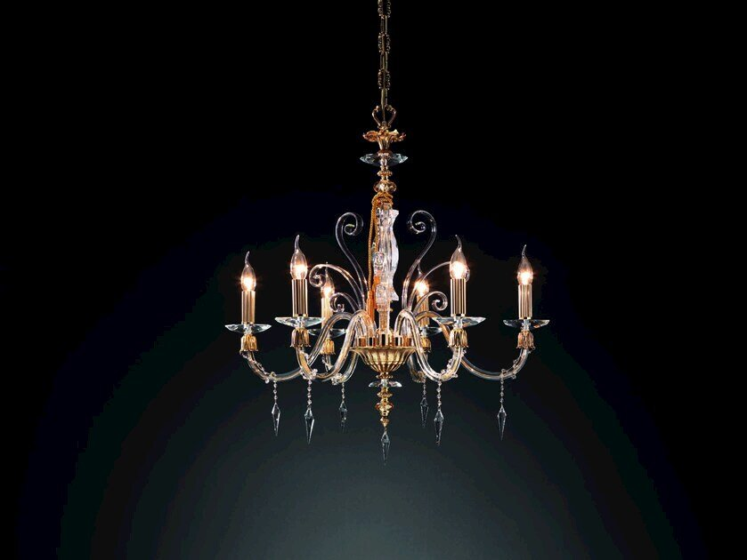 Chandelier with Swarovski® Crystals MIDHA L6 by Euroluce Lampadari