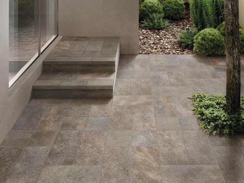 Porcelain stoneware outdoor floor tiles MIDLAKE PORFIDO by CERAMICHE KEOPE