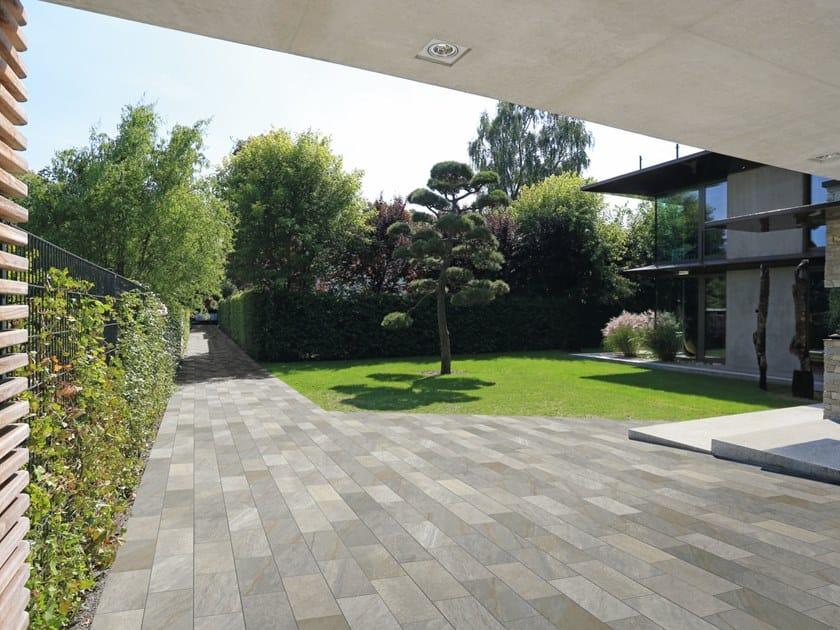 Porcelain stoneware outdoor floor tiles MIDLAKE QUARTZGREY by CERAMICHE KEOPE
