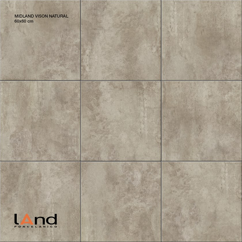 Technical porcelain wall/floor tiles with concrete effect MIDLAND VISON by Land Porcelanico