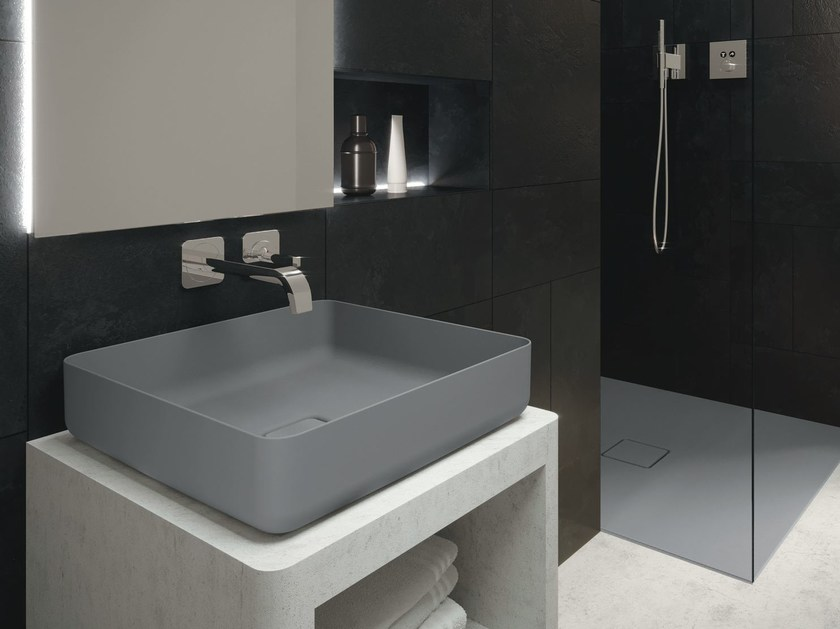 Countertop single ceramic washbasin MIENA | Rectangular washbasin by Kaldewei Italia