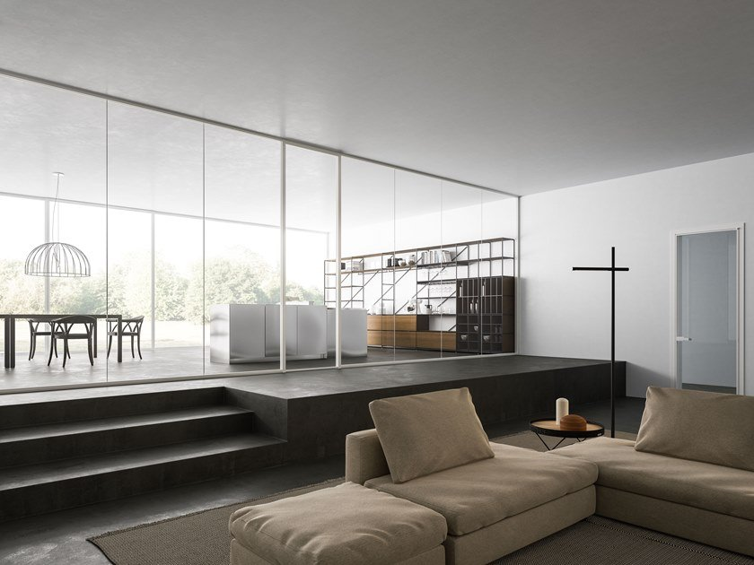 Glass movable wall MIES by ADIELLE