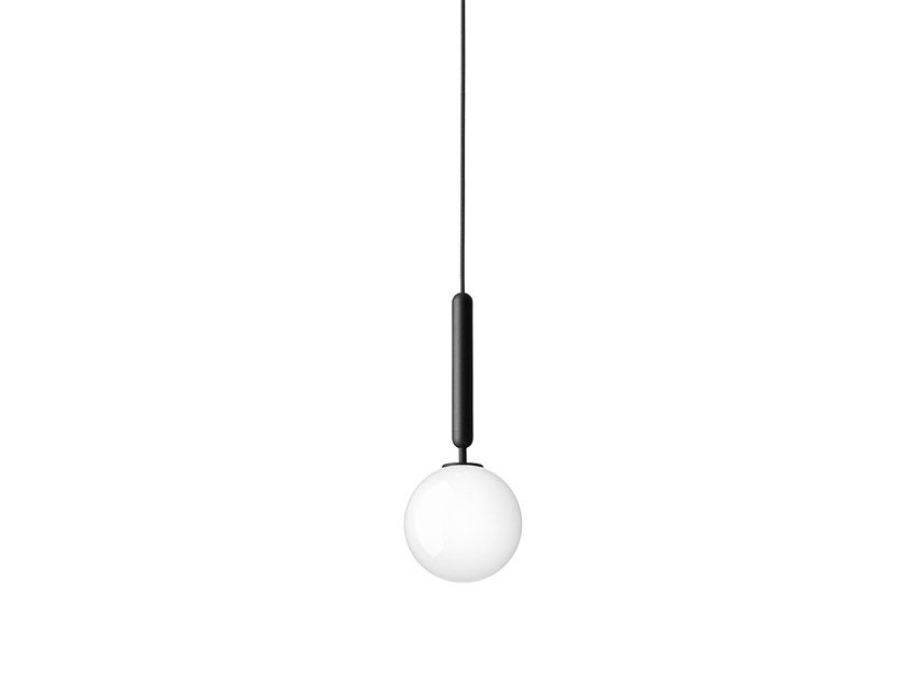 Direct light blown glass pendant lamp MIIRA 1 OPAL by Nuura