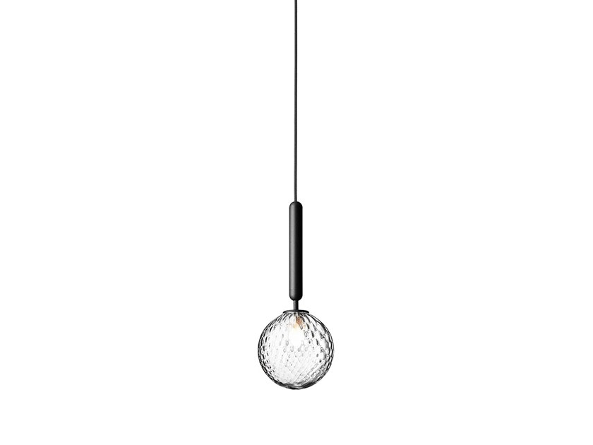 Direct light blown glass pendant lamp MIIRA 1 OPTIC by Nuura