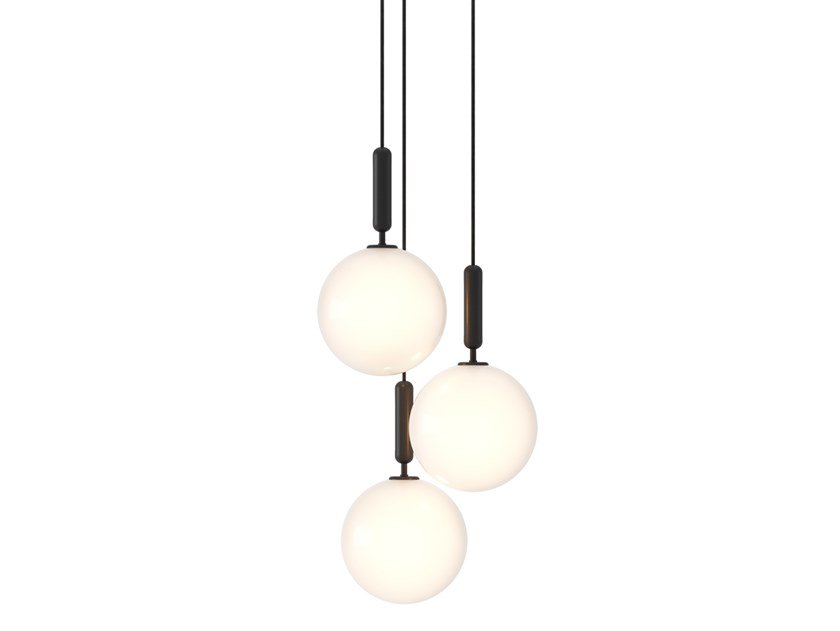 LED glass chandelier MIIRA 3 LARGE by Nuura