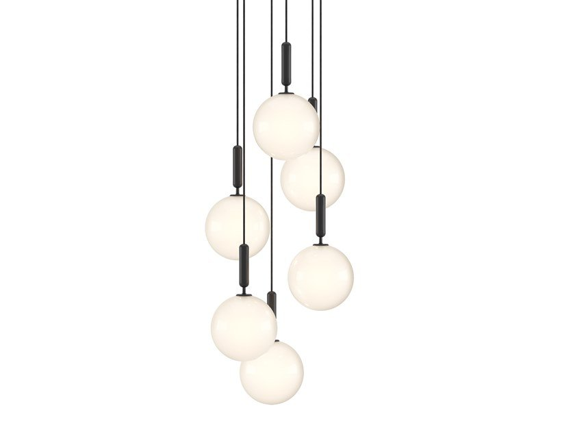 LED glass chandelier MIIRA 6 LARGE by Nuura