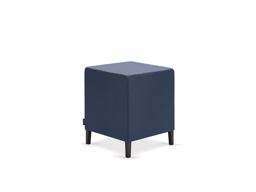 Upholstered fabric pouf MIKA MAD by Fenabel