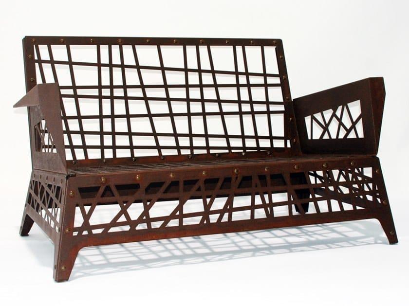 2 seater Corten™ garden sofa MIKADO | Garden sofa by TrackDesign