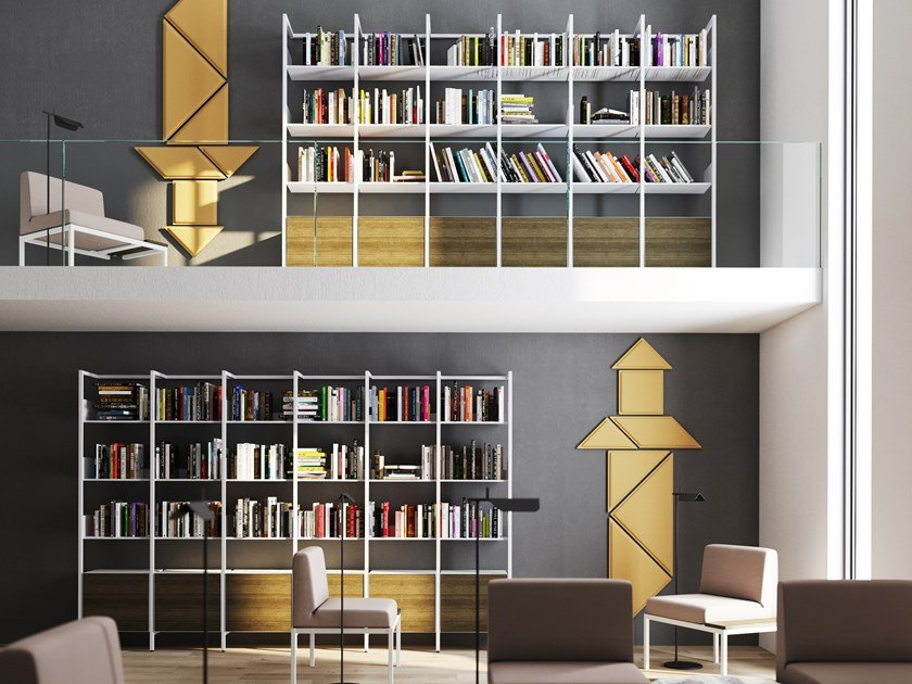 Libreria a parete modulare MIKAI by Steelbox by Metalway
